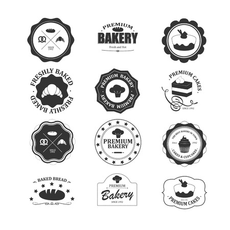 Vintage bakery labels set.  Vector