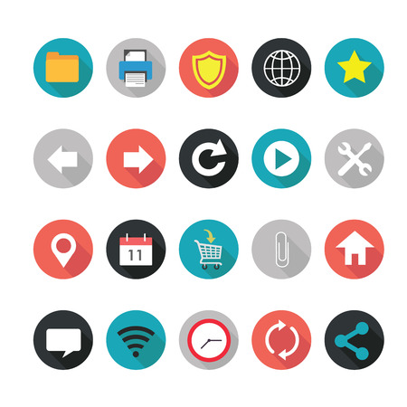 Set of web icons for business.