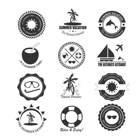 Summer design elements and typography design.