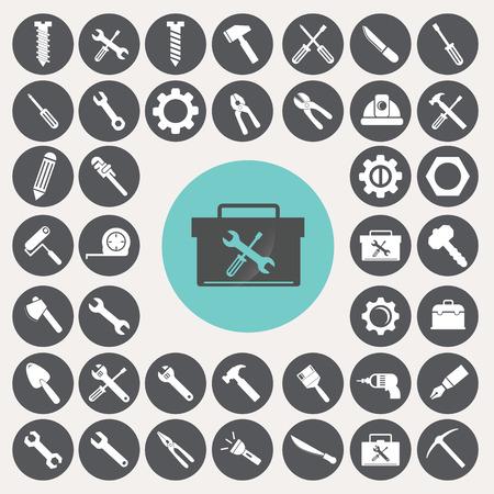 Tools icons set. Illustration