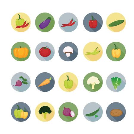 Icona Vegetable set. Archivio Fotografico - 33069801