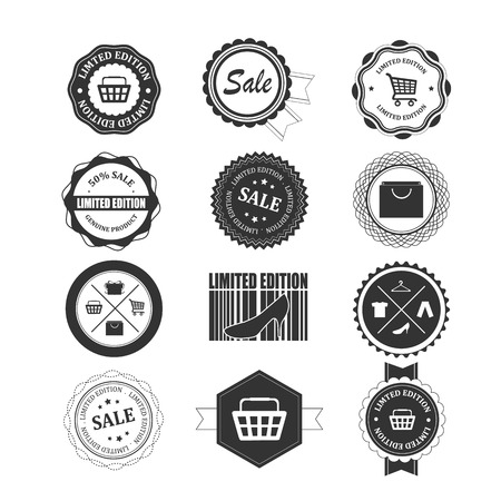 Set of shopping badges and labels Vector