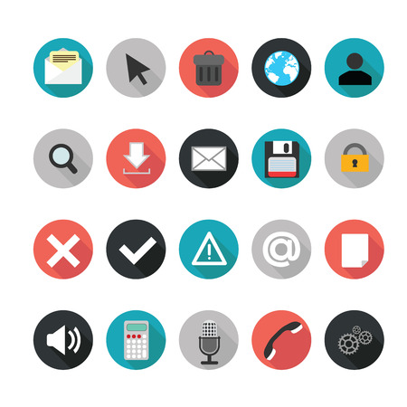 Set of web icons for business. Illustration