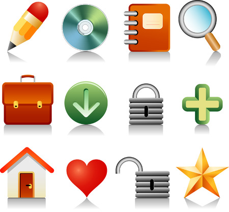 vector icons for internet and other Illustration