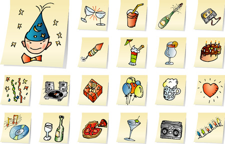 vector party icons Vector