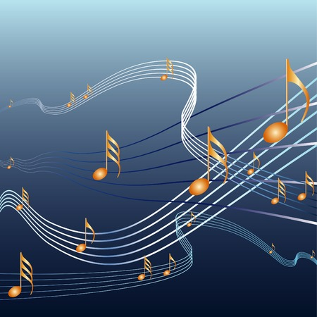 themes: vector background with music notes Illustration