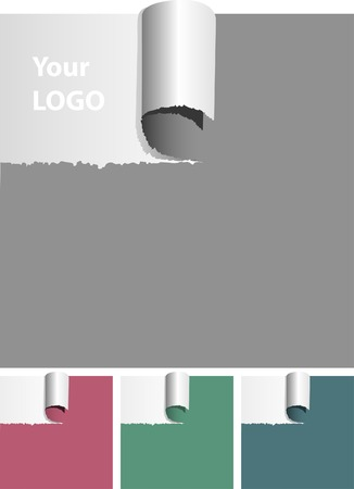 vector ripped paper with space for logo Vector
