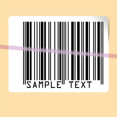 vector illustration of scanning bar code Stock Vector - 2978806