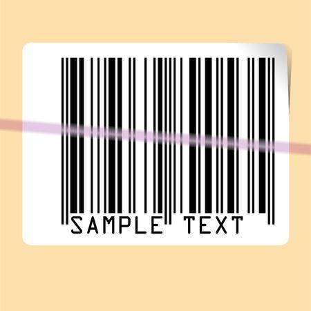 scanning: vector illustration of scanning bar code Illustration