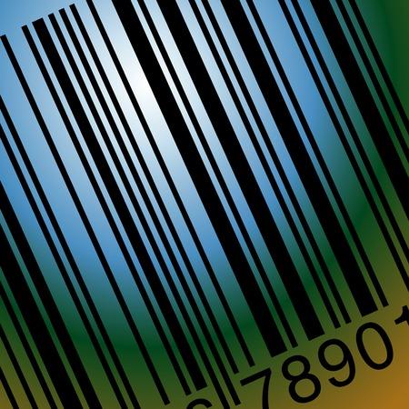 laser tag: vector illustration of scanned bar code Illustration