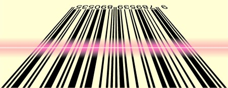 vector illustration of scanned bar code Stock Vector - 2978805