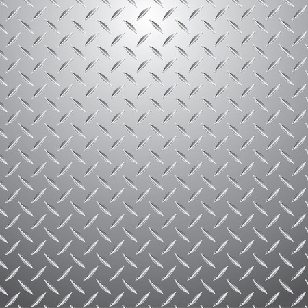 diamonds pattern: vector illustration of the metal plate Illustration