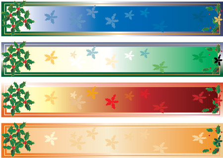 vector banners for christmas holidays Stock Vector - 3025667