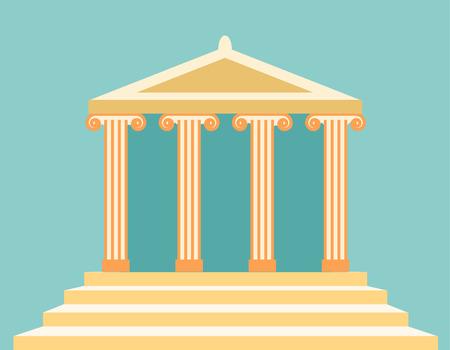 pilastri: illustrazione vettoriale di antico tempio