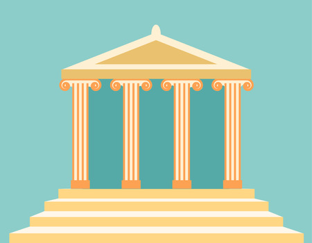 Vektor-Illustration des antiken Tempels