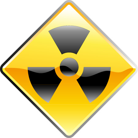 laser radiation: vector shiny sign for radioactivity
