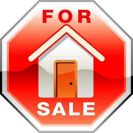 home buyer: vector traffic sign for sale