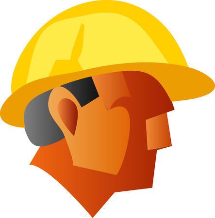 operative: vector illustration of the workers face
