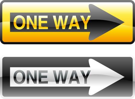 vector traffic sign for one way Vector