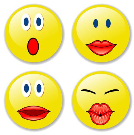cordialit�: illustrazione vettoriale di smiley badge