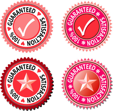 vector labels for satisfaction guaranteed Stock Vector - 3031146