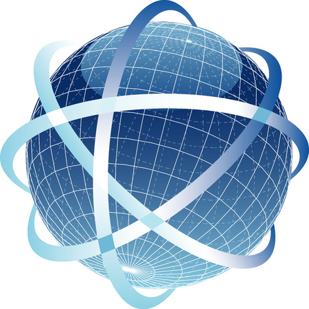 vector illustration of the abstract globe