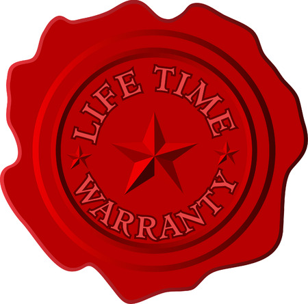 surety: vector lifetime warranty on the red wax