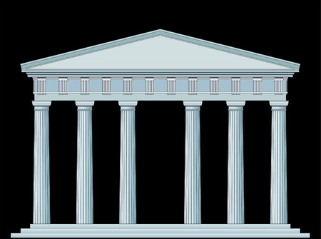 grecian: vector detailed drawing of the antique temple Illustration