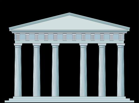pilastri: vettore di disegno dettagliato l'antico tempio  Vettoriali