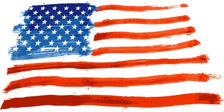 флагшток: vector  painted USA flag