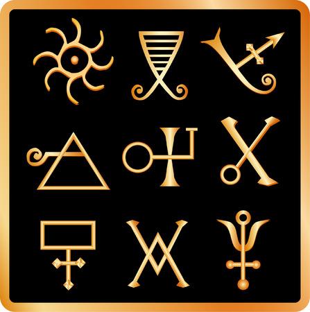 alquimia: Golden alquimia signos no.1.