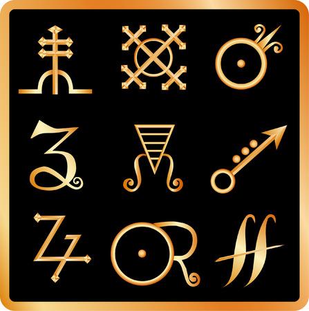 alquimia: Golden alquimia no.3 signos.
