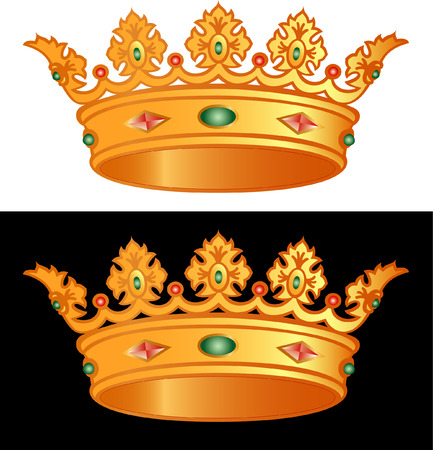 royal golden cron in vectors