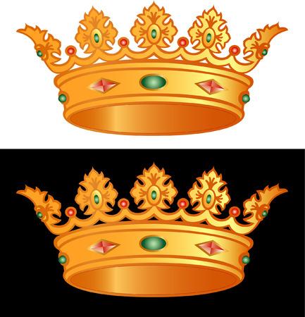 royal person: royal golden cron in vectors