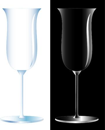 vector tulip vine glass Vector