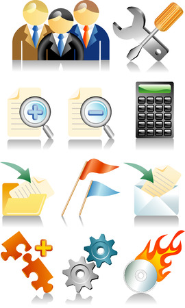 set of vector icons for web and computing Stock Vector - 3031140