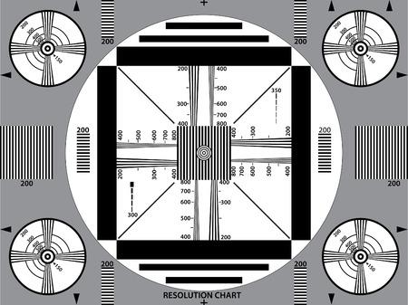 old service station: illustrazione vettoriale di tv segnale di prova  Vettoriali