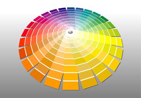 chromatic colour: vector illustration of the color palette