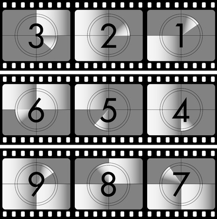 vector illustration of the movie countdown Stock Vector - 3042293