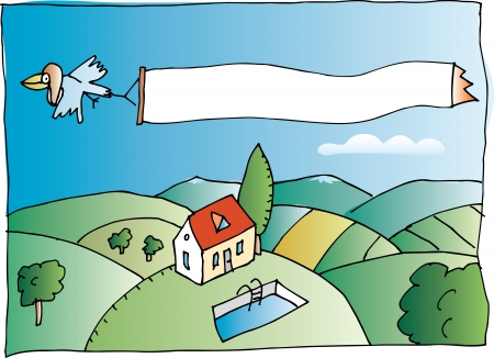 Woodstock in action (with real estate etc.) Vector