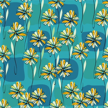 vector retro seamless floral pattern Vector