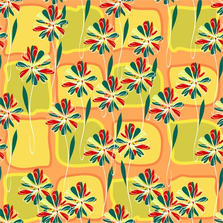 vector floral seamless repeating pattern Vector