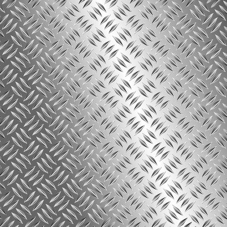 pavimento lucido: realistica illustrazione vettoriale della piastra metallica Vettoriali