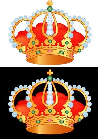 circlet: illustrazione vettoriale della corona d'oro Vettoriali