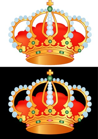 vector illustration of the golden crown Vector