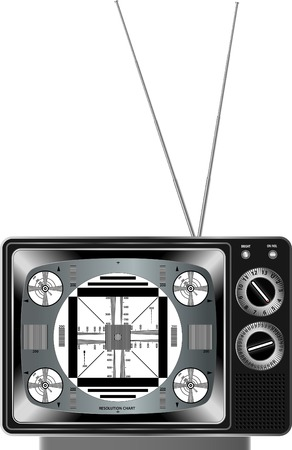 vector detailed television with test signal Vector