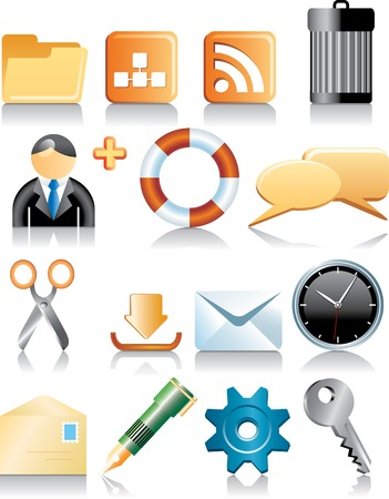 vector icons for computer, web etc. Stock Vector - 3057123