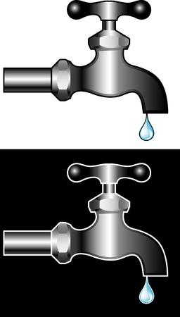 vector illustration of the faucet Stock Vector - 3057124