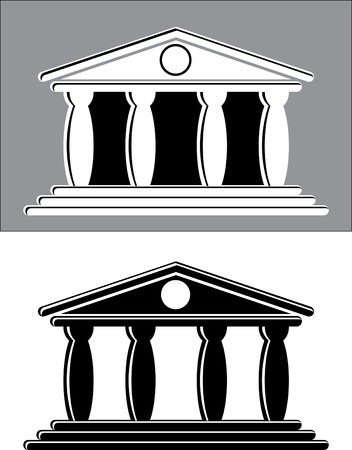 grecian: vector illustration of the temple
