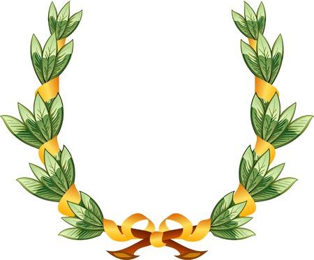 vector crest of laurel arms Vector